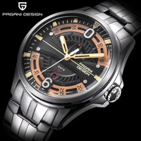 2019 Men Watch PAGANI DESIGN Brand Quartz Watch Military Sports Stainless Steel Clock Waterproof Men Watch Relogio Masculino