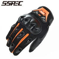 SSPEC Motorcycle Gloves Racing Summer Breathable Wearable Protective Outdoor Sports Full Finger Riding Glove Motocross Guantes