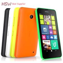 100% débloqué Original Nokia Lumia 630 Cellulaire Déverrouillé téléphones quad core 5MP caméra 4.5 Pouce Windows OS double carte sim Livraison Gratuite