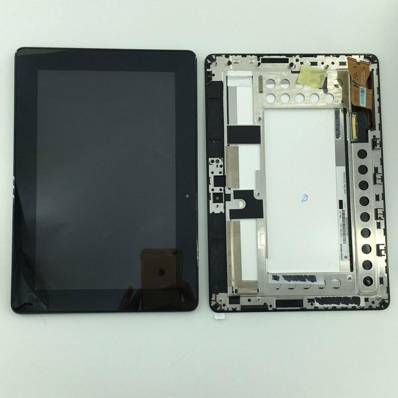Gebruikt onderdelen Lcd-scherm Monitor + Touchscreen Digitizer Vergadering + Frame Voor Asus MeMo Pad Smart ME301 ME301T K001 TF301T