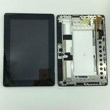 Piezas usadas Panel Monitor de Pantalla LCD + Pantalla Táctil Digitalizador Asamblea + marco Para Asus MeMo Smart Pad ME301 ME301T K001 TF301T