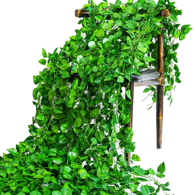 200CM Artificial Plants Creeper Green Leaf Ivy Vine For Home Wedding Decor Wholesale DIY Hanging Garland Artificial Flowers 2
