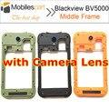 Blackview bv5000 meio quadro 100% original lcd frontal da tela de substituição assembleia quadro para smartphones blackview bv5000