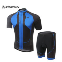 XINTOWN MTB Bicycle Ciclismo Clothings Suit Summer Wicking Outdoor Running/Cycling Wear Bike Cycling 3D Gel Bib Short Pants Sets