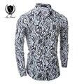 Военная Рубашка Мужчины Повседневная Камуфляж Печатные Мужские Блузка Slim Fit Осень с длинным Рукавом Мужские рубашки Одежда Марка Camisa Masculina