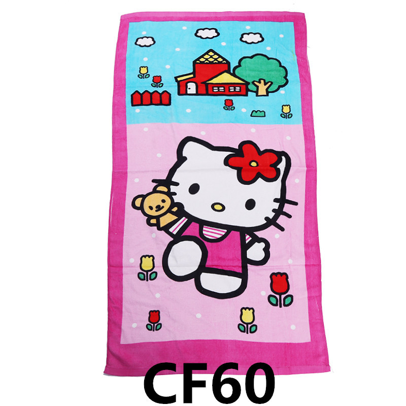 Hello Kitty Hand Towel Hot Pink Embroidered Emblem 100/% Cotton Bathroom Decor