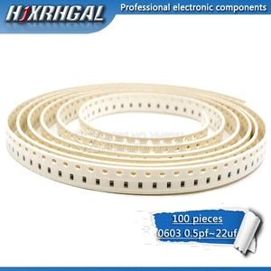 100PCS 0603 smd kondensator keramik 0.5pF-22uF 1.2nf 2.2nf 2.7nf 3.3nf 4.7nf 22nf 2,2 uf 4,7 uf 10uf kondensatoren kit sets hjxrhgal