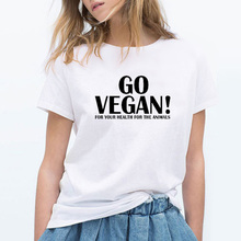 GO VEGAN! For your health, for the animals – women's shirt