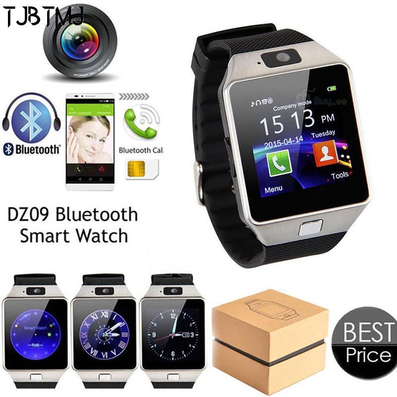 2019 novo bluetooth relógio inteligente smartwatch dz09 android telefone inteligente chamada relogio gsm sim slot câmera para android samsung