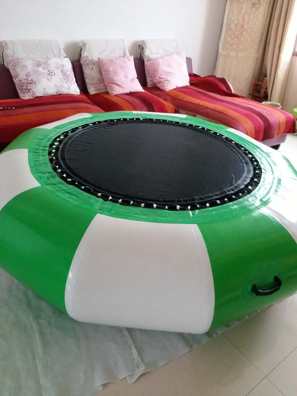 Inflatable Trampoline With Slide Inflatable Trampoline Inflatable Water Toys For Chinldren And Adults In The Yard And The Water купить недорого в Москве