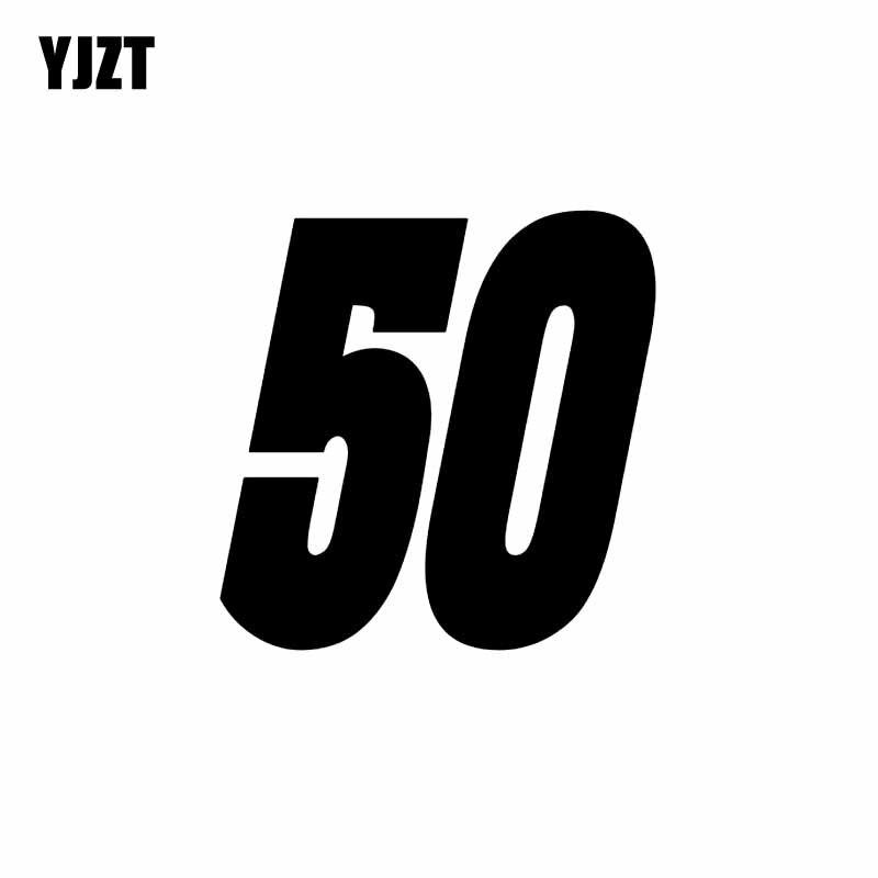 Yjzt 14.9 cm * 15 cm moda sorte número 50 vinil carro-estilo adesivo decoração decalque gráfico C11-0827