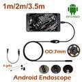 3.5 М 2 М 1 М mini USB Android OTG USB Эндоскоп 7 мм Объектива IP67 Эндоскопа Змея Водонепроницаемая USB бороскоп Труба Инспекции Камеры