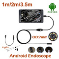 3.5M 2M 1M mini USB Android Endoscope Snake OTG USB Endoscope 7mm Lens IP67 Waterproof USB Borescope Pipe Inspection Camera