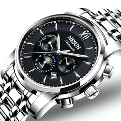 Szwajcaria luksusowy zegarek marki NESUN mężczyźni automatyczne mechaniczne zegarki relogio masculino Luminous wielofunkcyjny zegar N9805-1