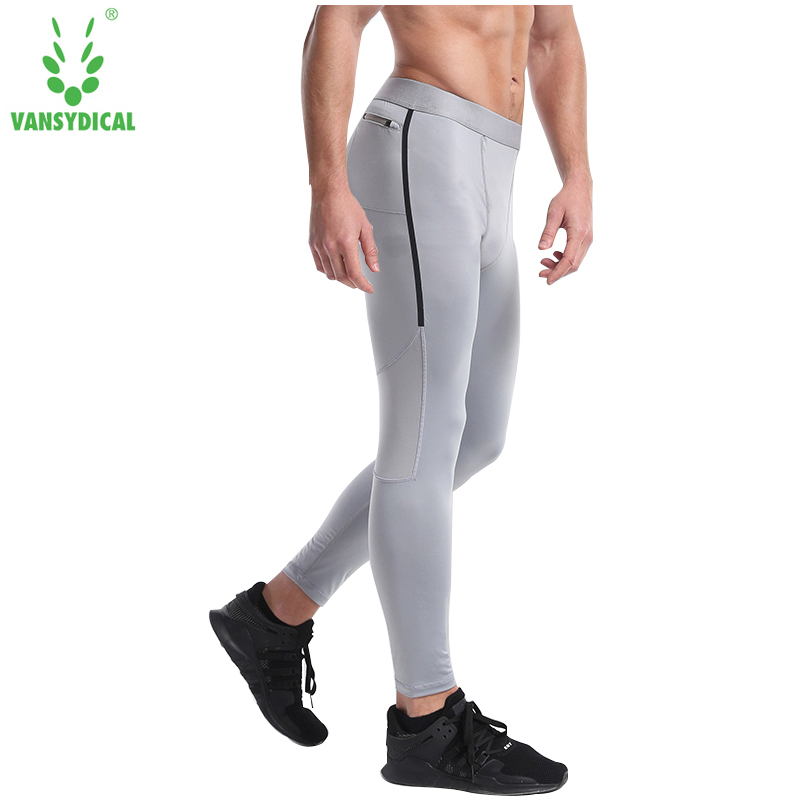 Vansydical Men Compression Pants Running Tights Men Sweatpants Jogging Leggings Fitness Gym Bodybuilding Sport Leggings Trousers