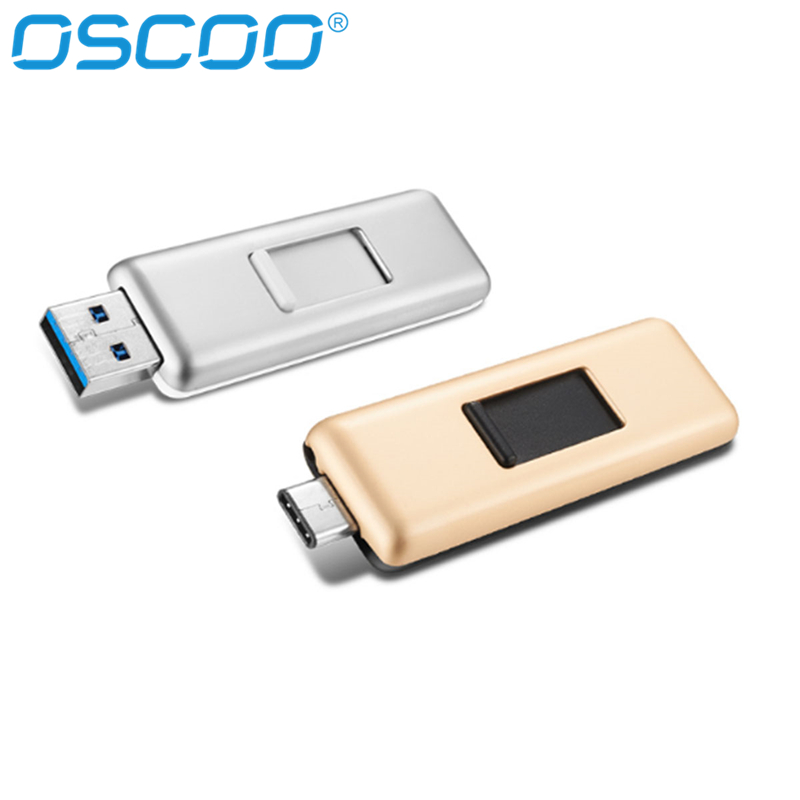 OSCOO 100% Original Type-C 3.1 USB Flash Drive 64GB 16GB 32GB 128GB USB 3.0 Memory Stick Read speed 100MB/s mini Pen Drives sandisk original flash disk z48 usb flash drive usb 3 0 memory stick 100mb s read speed mini pen drives 16gb 32gb 64gb 128gb