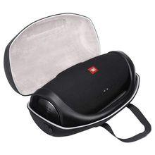Para boombox portátil bluetooth à prova dhard água alto falante caso duro carry saco caixa de proteção (preto)