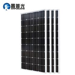 XINPUGUANG 2 шт. 3 шт. 4 шт. солнечная панель 100 Вт 18 в стеклянные солнечные панели 200 Вт 300 Вт 400 Вт panneau solaire монокристаллическая солнечная панель 12 В