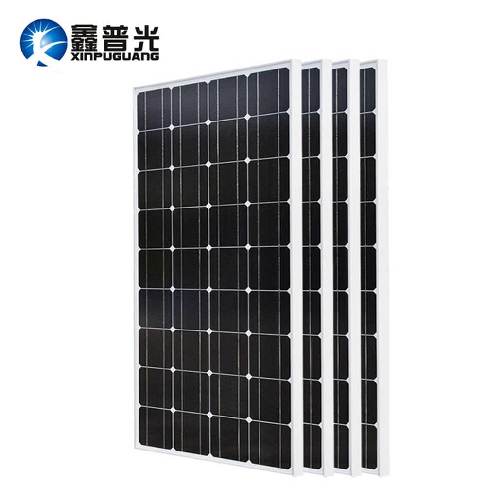 XINPUGUANG 2 قطعة 3 قطعة 4 قطعة لوحة طاقة شمسية 100W 18V الزجاج لوحة طاقة شمسية s 200W 300W 400W panneau مرنة bsolaire أحادية مجلس