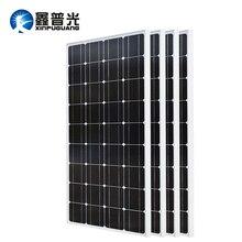XINPUGUANG 2PCS 3PCS 4PCS Solar panel 100W 18V Glass solar Panels 200W 300W 400W panneau flexible bsolaire Monocrystalline board