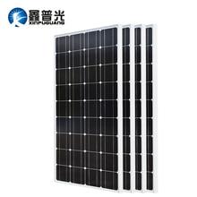 XINPUGUANG 2PCS 3PCS 4PCS Solar panel 100W 18V Glass solar Panels 200W 300W 400W panneau solaire Monocrystalline board 12V