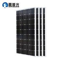 XINPUGUANG 2PCS 3PCS 4PCS Solar panel 100W 18V Glass solar Panels 200W 300W 400W panneau solaire Monocrystalline solar board 12V