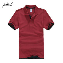 PDTXCLS Mens Polo Shirts Men Desiger Polos Men Cotton Short Sleeve shirt Clothes jerseys Golf Tennis Polos Big Size XXL Solid(China)