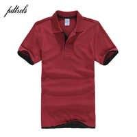PDTXCLS camisas de Polo para hombre, diseño de Polos de algodón para hombre, camisetas de manga corta, jerseys, Polos de tenis de Golf talla grande XXL sólido