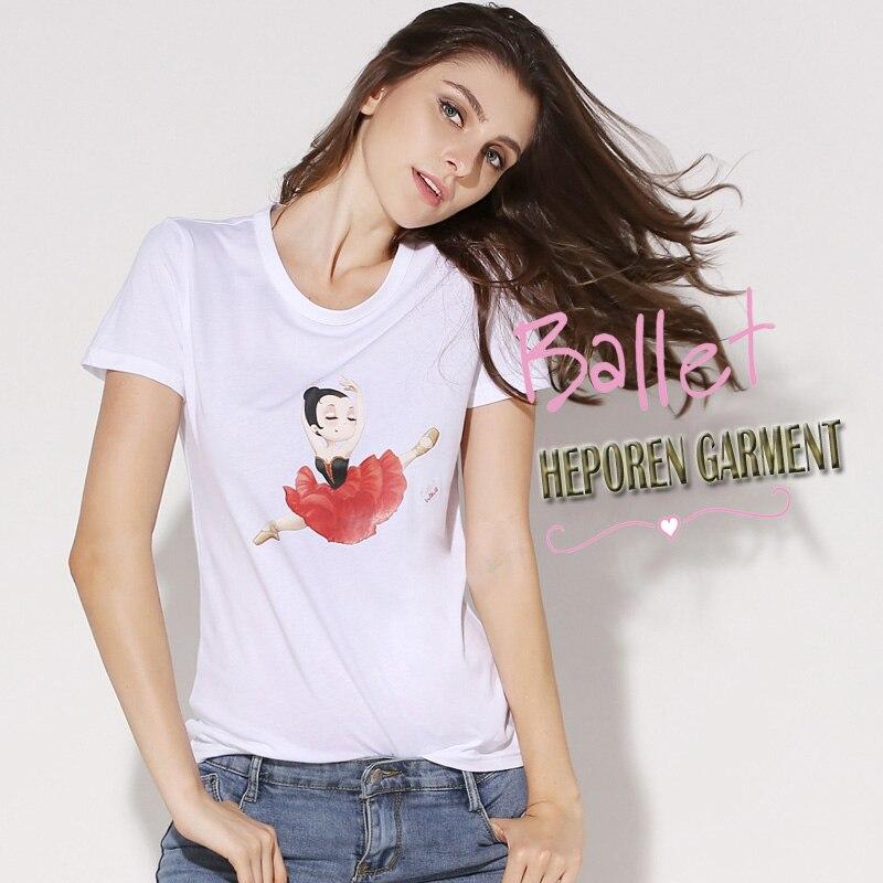 f16f033ea Moda Dom Quixote Ballet Padrão T shirt Para As Mulheres e As Crianças