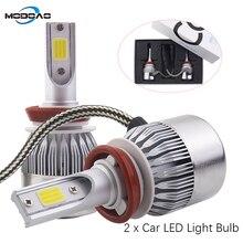 Modoao Car Led Headlights Super Bright Far and Near Light Bulbs H7/H11/H9 /9005/811 Fog Lights