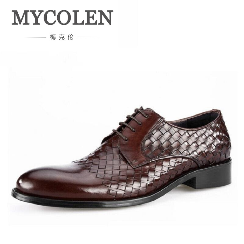 MYCOLEN British Round Toe Elegant Mens Shoes Male Casual Cow Leather Dress Shoes Business&Wedding Shoes Sapato De NoivaMYCOLEN British Round Toe Elegant Mens Shoes Male Casual Cow Leather Dress Shoes Business&Wedding Shoes Sapato De Noiva