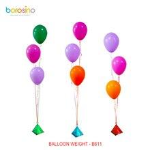 B611 10 pcs/ bag 35 grams Various color Pyramid balloon weight
