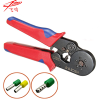 HSC8 6 4A MINI TYPE SELF ADJUSTABLE CRIMPING PLIER 0 25 6mm2 Terminals Crimping Tools Multi