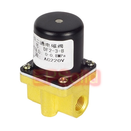 цена на Free Shipping Normally Closed Direct acting Brass Solenoid Valve gas 1/8 BSP 3.0mm NBR Seals Pneumatic welding machine DF2-3-B