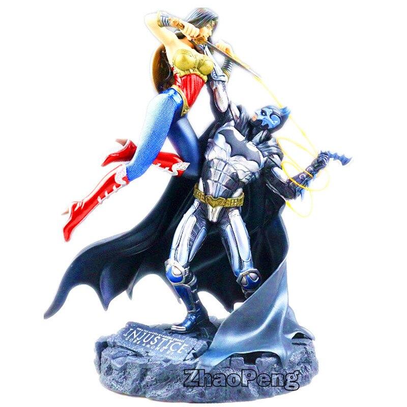 17 CM BatMan VS merveille femme buste Action Statue Figure Batman merveille femme combat version modèle jouet