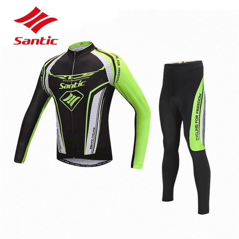 Santic Cycling Jersey Set Pro Team Racing Cycling Clothing Outdoor MTB Road Bicycle Bike Clothes Pro Gel Padded Pants Men 2018 santic cycling pants road mountain bicycle bike pants men winter fleece warm bib pants long mtb trousers downhill clothing 2017
