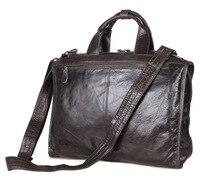 Promotion Men Briefcase Gray Color Genuine Leather Men Messenger Bags Cow Leather Business Portfolios 15.6″ Laptop Shoulder Bag