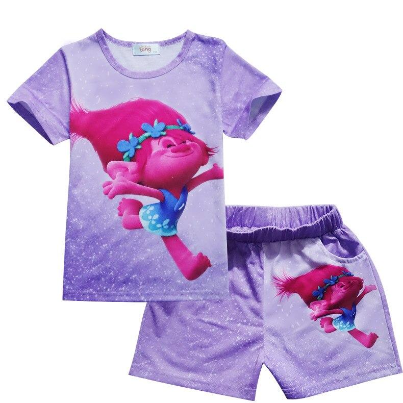 Klug 2017 Neue Sommer Heißer Verkauf Baumwolle Baby Pyjamas Cute Charakter Kind-schlafanzüge Kinder Baby Kleidung 2 Stücke Set 3-8year