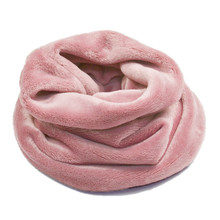 High Quality Faux Fur Winter Scarf Snud For Women Hats Double Layer velvet Kawaii Warm Ring Scarves Unisex children LIC
