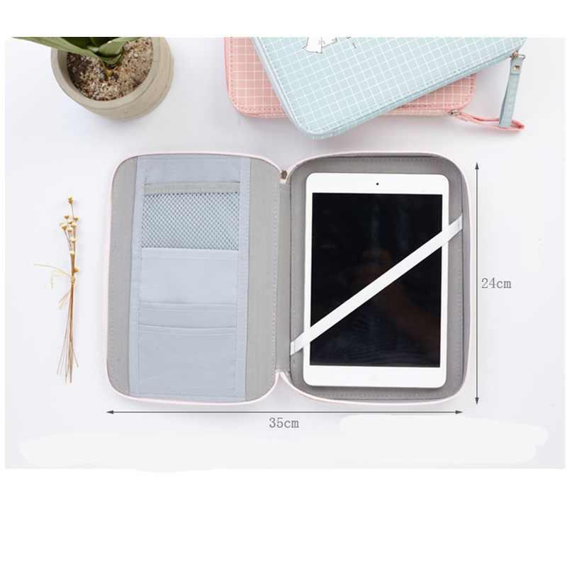 Kawaii lápis caso multi-função grande capacidade caneta caixa estudante presente saco de armazenamento bonito carttoon para ipad telefone escola papelaria