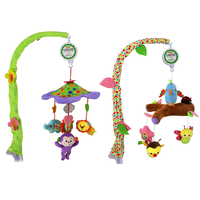 Baby Plush Toy Animal Rattles Bed Crib Bell Wind Chimes Newborn Musical Mobile Holder Arm Bracket Education Toys Birthday Gifts