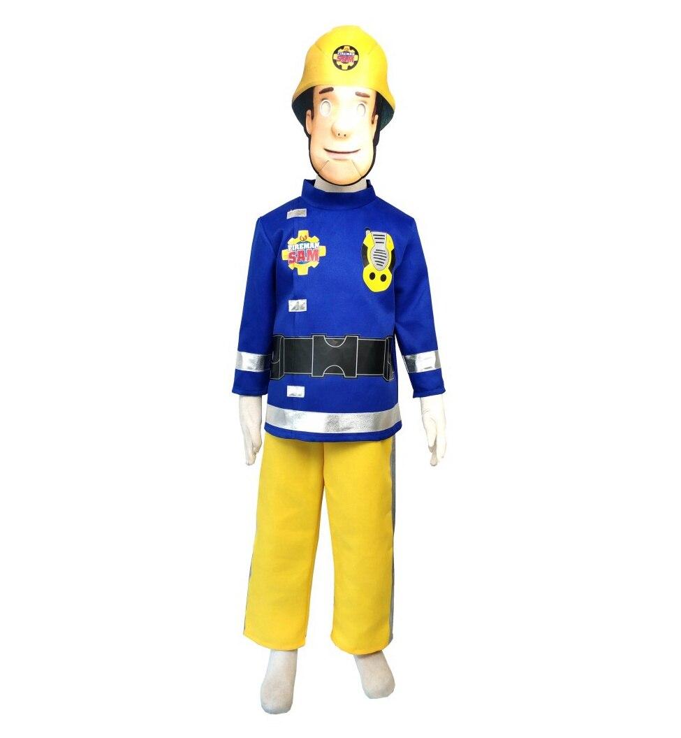 Caliente 2019 bombero Sam niños vestido traje de 4-10 años de fiesta de Carnaval Halloween Disfraces Cosplay