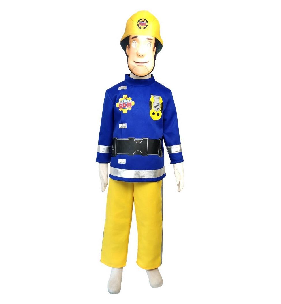 Лидер продаж 2019, детский маскарадный костюм пожарного Sam, костюмы для костюмированной вечевечерние НКИ 4-10 лет на Хэллоуин