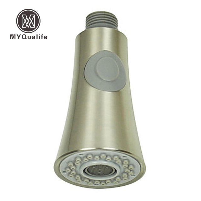 Free Shipping Dual Function Pull Down /Out Kitchen Shower Faucet Spray Head  Replacement Head Brushed