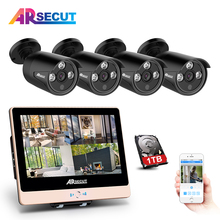 Autumn New!Plug And Play 4CH POE CCTV Camera System&2.0MP HD Outdoor 3Array IR Night-Vision POE Cameras+1TB HDD Mobile Remote