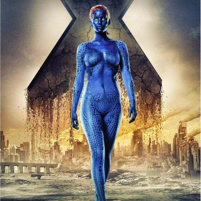 X men Film Mystique 3D Print Cosplay Costume BLue Print ...