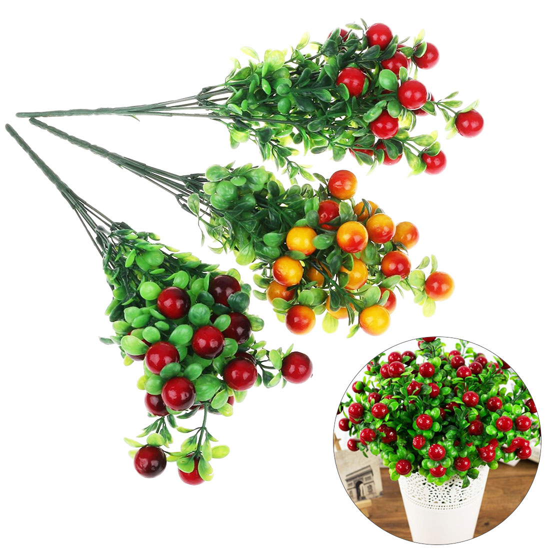 Artificial Lifelike Berries Fake Mini Simulation Decorative Fruit Plants DIY Craft Home Party Decoration Artificial Fruit