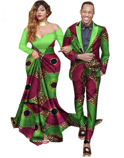 African Bazin Riche Dresses Special Offer Women 2018 Cotton New Arrival African Couple Suits Wax Printing