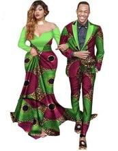 Африканский Базен Riche платья для женщин Специальное предложение для 2018 хлопок Новое поступление пара костюмы воск печати