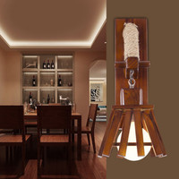 American Village Hemp Rope Bar Wall Lamp Mediterranean Sea Living Room Restaurant Aisle Chinese Style Solid Wood Wall Light